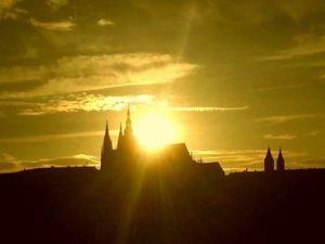 Západ slunce při letním Slunovratu